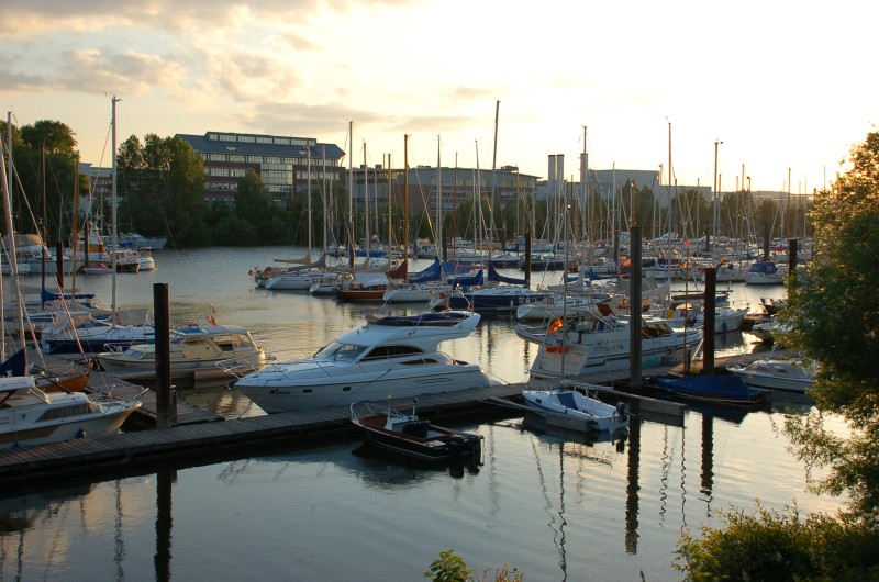 Bootswerft in Hamburg Finkenwerder